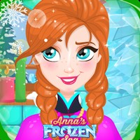 Anna trượt tuyết