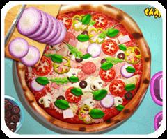 Làm bánh pizza thập cẩm