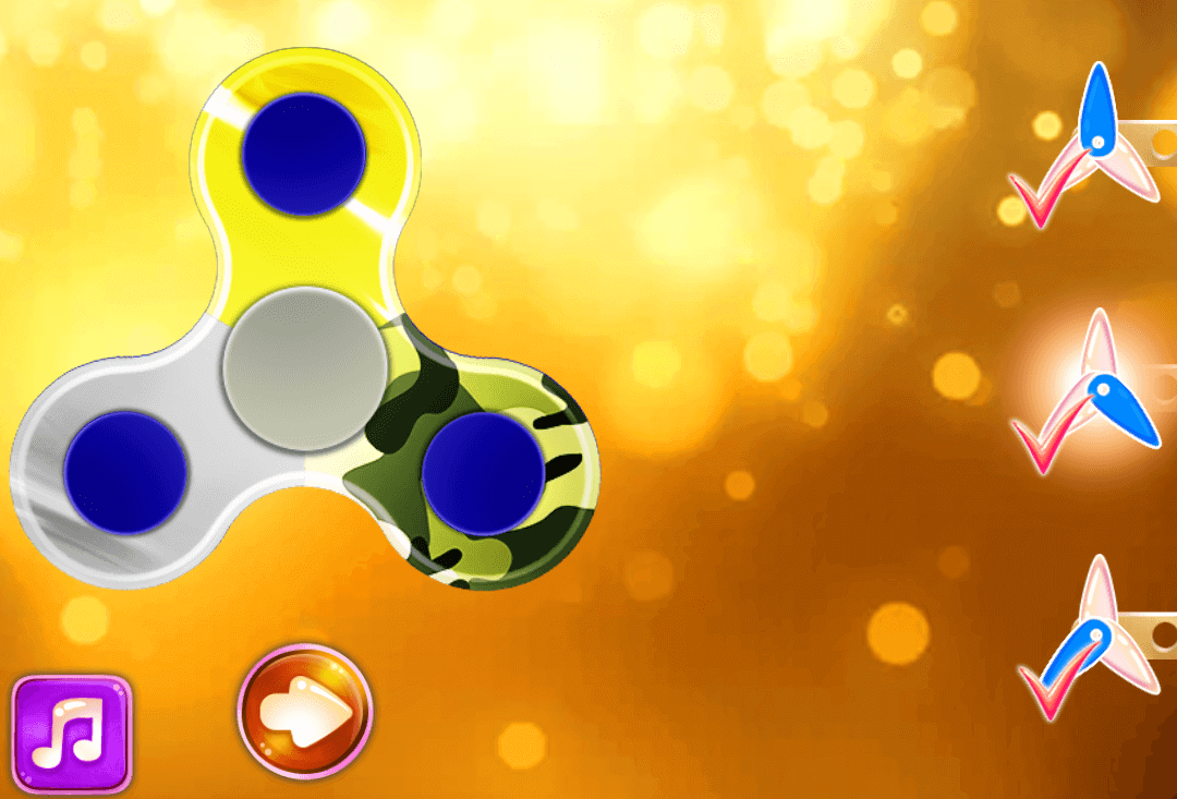 Game thiết kế spinner